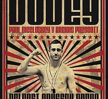 Dudey v Prescott Retro Poster by martymccolgan