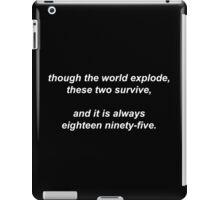221B by Vincent Starett (white) iPad Case/Skin