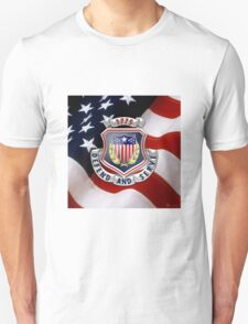 Adjutant General's Corps - AG Corps Regimental Insignia U. S. Flag  T-Shirt