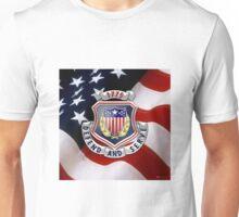 Adjutant General's Corps - AG Corps Regimental Insignia U. S. Flag  Unisex T-Shirt