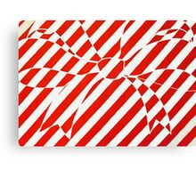 White and Red bow Canvas Print