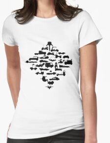 Oldschool Transportation Womens Fitted T-Shirt