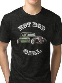 Hot Rod Girl  Tri-blend T-Shirt