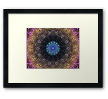 The Dark Forest II - Blue, Green, Purple Kaleidoscope Framed Print