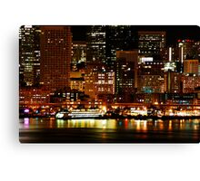 Night Lights of Seattle Canvas Print