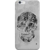 Swirly Skull iPhone Case/Skin