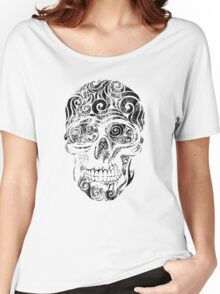 Swirly Skull Women's Relaxed Fit T-Shirt