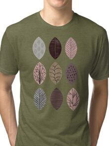 Nature Inspired Leaves  Tri-blend T-Shirt
