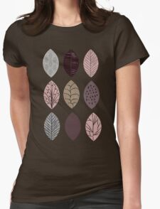 Nature Inspired Leaves  Womens Fitted T-Shirt