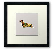 Dachshund - geometric Wiener! Framed Print