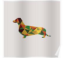 Dachshund - geometric Wiener! Poster