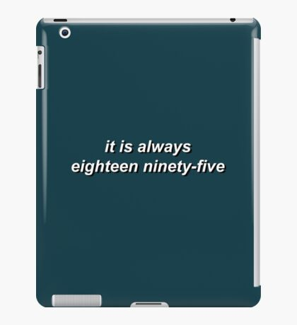 221B by Vincent Starett (short) iPad Case/Skin