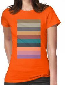 color stripes in colorful pastel Womens Fitted T-Shirt