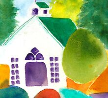 Chapel at Roche Harbor by Sally Griffin