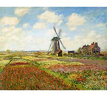 Claude Monet - A Field of Tulips in Holland Photographic Print