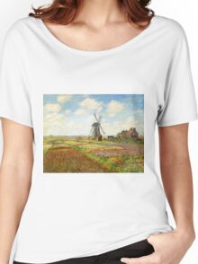 Claude Monet - A Field of Tulips in Holland Women's Relaxed Fit T-Shirt