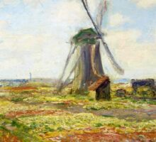 Claude Monet - A Field of Tulips in Holland Sticker