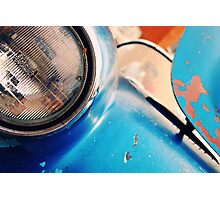 Rusted Blue  Photographic Print