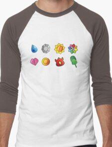 Kanto Gym Badges Men's Baseball ¾ T-Shirt