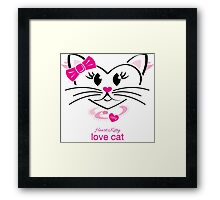 HeartKitty Love-Cat Framed Print