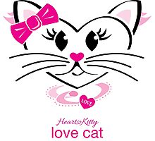 HeartKitty Love-Cat Photographic Print