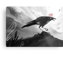 The Crow King II Metal Print