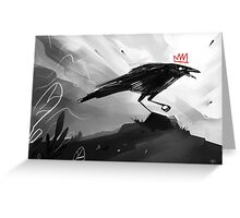 The Crow King II Greeting Card