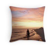 Sunset Shelling Throw Pillow