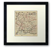 World War II Twelfth Army Group Situation Map July 24 1945 Framed Print