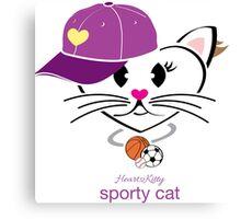 HeartKitty Sporty Cat Canvas Print