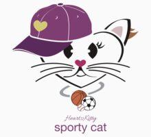 HeartKitty Sporty Cat by LoPowDesign
