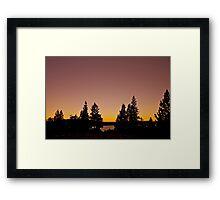 Pink Sunset.....Photographers Delight!  Framed Print