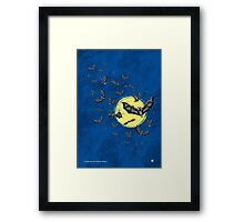 Bat Swarm (Shirt) Framed Print