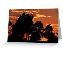 Sunset Northeast Oklahoma 8-30-11 Greeting Card