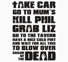 Shaun of the Dead To Do List by gleekgirl
