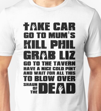 Shaun of the Dead To Do List Unisex T-Shirt