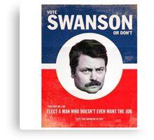 Vote Ron Swanson Canvas Print