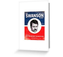 Vote Ron Swanson Greeting Card