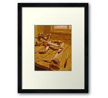 Study for Carpenter's Bench Framed Print
