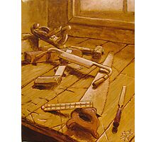 Study for Carpenter's Bench Photographic Print