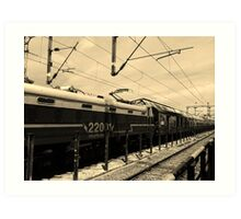 Vanishing Train Art Print