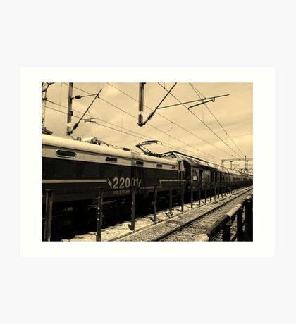 Vanishing Train Art Print