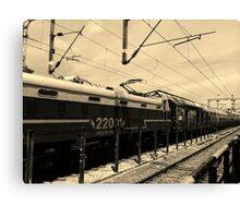 Vanishing Train Canvas Print