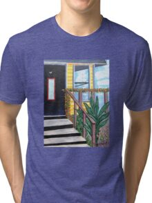 My Door............ *E komo mai*.........Welcome! Come in! Tri-blend T-Shirt