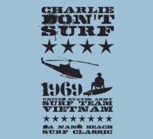 Surf team vietnam - Charlie don't surf - Black One Piece - Short Sleeve