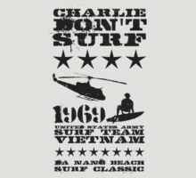 Surf team vietnam - Charlie don't surf - Black