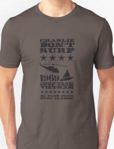 Surf team vietnam - Charlie don't surf - Black Unisex T-Shirt