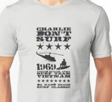 Surf team vietnam - Charlie don't surf - Black Unisex T-Shirt
