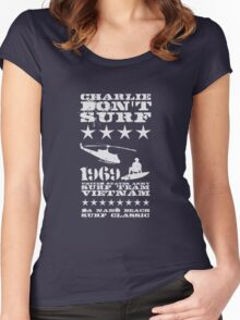 Surf team vietnam - Charlie Don't surf - White Women's Fitted Scoop T-Shirt
