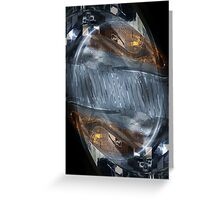 Auto Abstract - Headlight Greeting Card